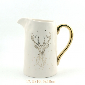 Ceramic Xmas Serving Pitcher